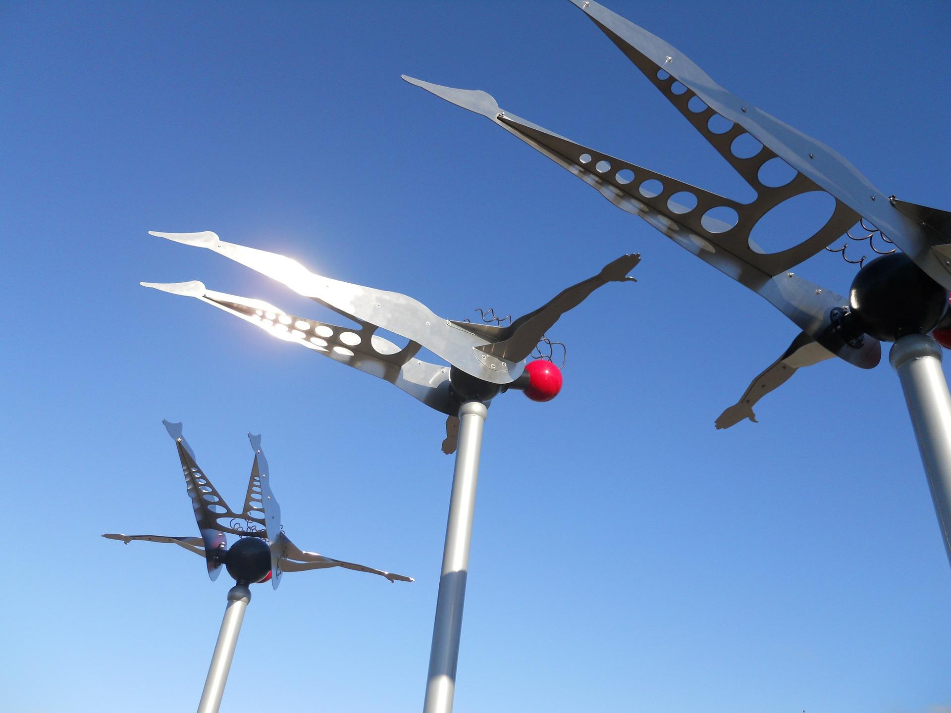 Fantastic Kinetic Garden  Sculptures